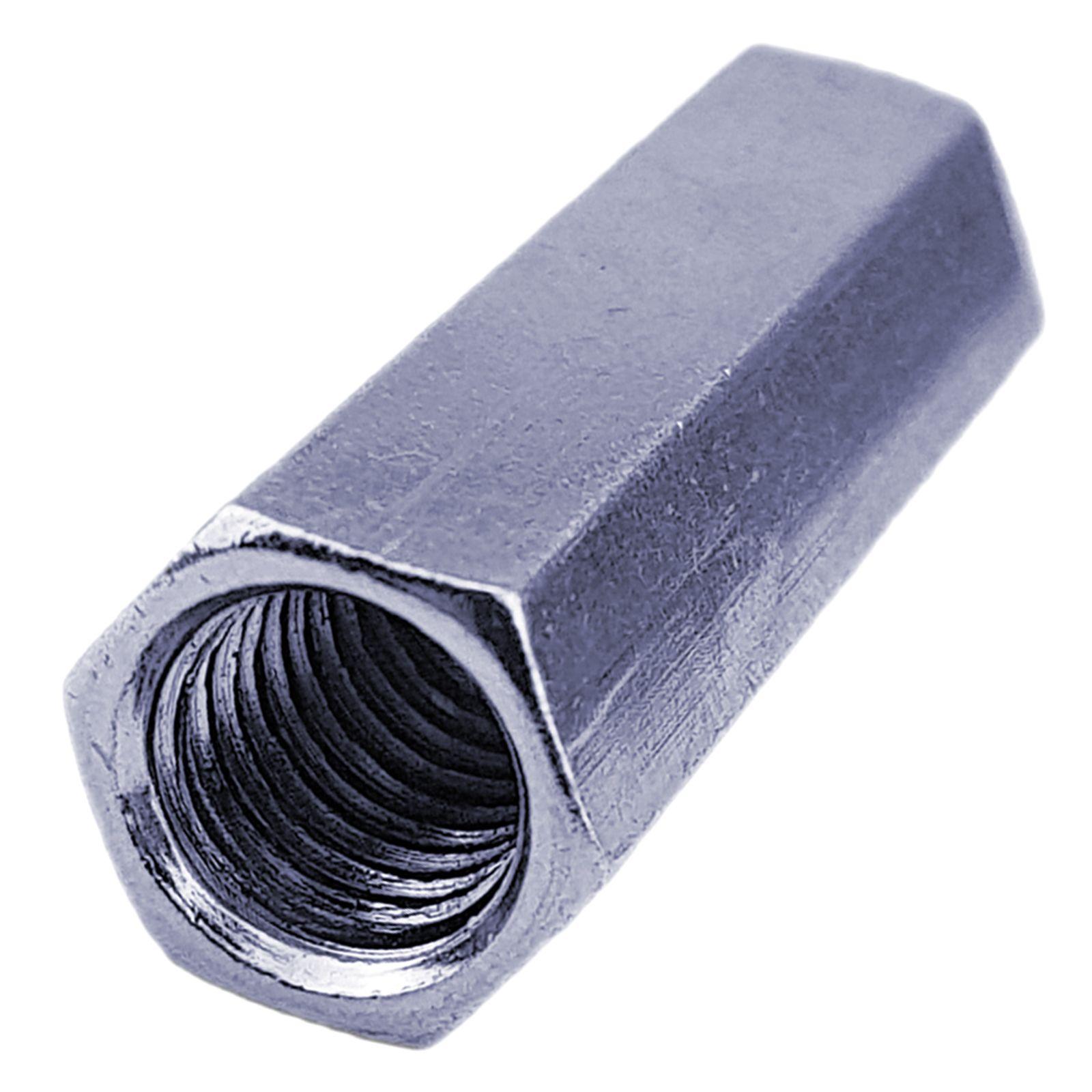 SW30 4 St/ück verzinkt M20 x 50 4X M20x50 Verbindungsmuttern Langmuttern Sechskant galv